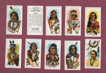 TRADE cards  set  American Indian Tribes 1962 by George Payne tea